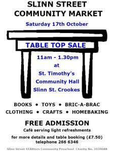 Table Top Sale Oct 2015